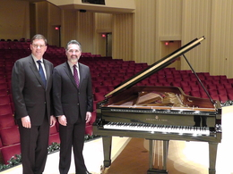 Chris Syllaba, President, Steinway Piano Galleries (left) with Stanley Romanstein, President, Atlanta Symphony Orchestra.